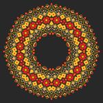 Link toKnitted flower ring vector