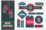 Link toKnitting patterns christmas tag vector