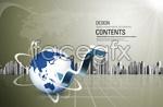 Link toKorea business concept of psd