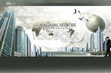 Link toKorea business theme high earth templates psd
