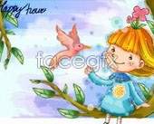 Link toKorea child vector 5