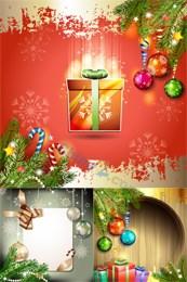Link toKorea christmas background vector map