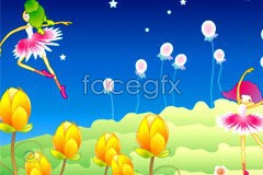 Link toKorea cute flower fairy cartoon vector