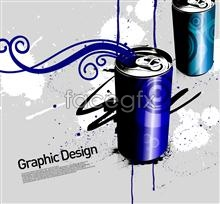 Link toKorea design element empty coke cans psd
