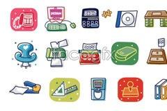 Link toKorea office supply cartoon vector elements