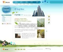 Link toKorea real estate real estate real estate website template psd