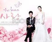 Korea studio romance wedding psd
