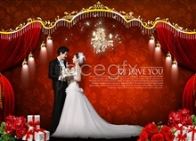 3 template wedding photography-psd day valentine's Korea