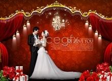 3 template wedding photography-psd day valentine's Korea