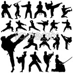 Link toKung fu action sketches vector