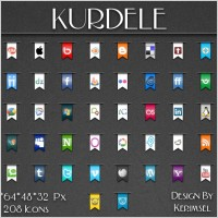 Link toKurdele social icons icons pack