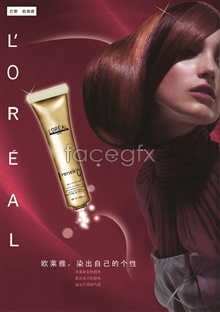Link topsd templates ads cream hair oréal ' L