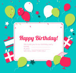 Link toLabel birthday greeting cards vector