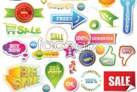 Link toLabel discount sales vector