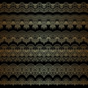 Link toLace decorative pattern vector background 08 free