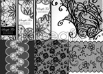 Link toLace pattern background vector