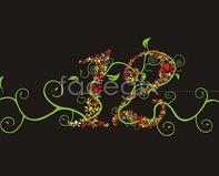 Link toLace pattern digital art ivy vector