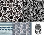 Link toLace patterns lace shade vector