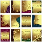 Link toLace with gold pattern vector