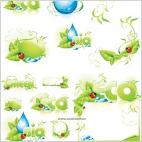 Link toLadybug leaves drop lace background vector
