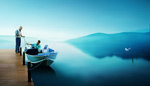Link toLake fishing landscape psd