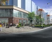 Landscape renderings of commercial centre, the mall department store psd