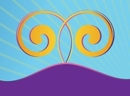 Landscape with spirals vector free