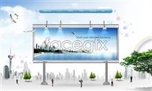 Link toLarge outdoor advertising business banner psd billboard