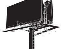 Link toLarge outdoor billboard blank large vector