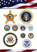 Link toLaw enforcement and military flags vector