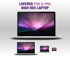 Link toLayered psd and png laptop