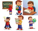 Learning cartoon children vector