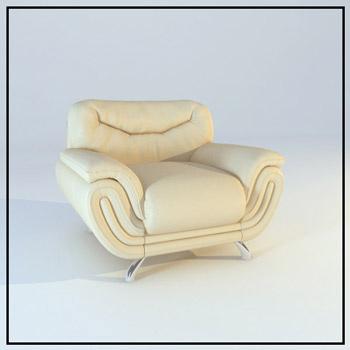 Link toLeather single sofa model 3d model