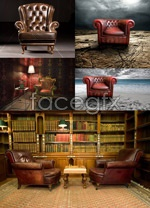 Link toLeather sofa chair psd
