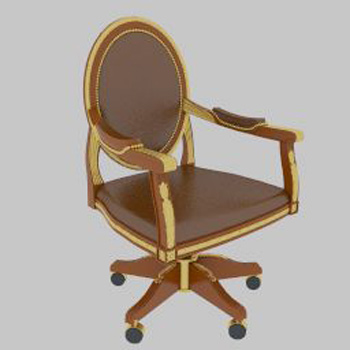 Link toLeather swivel chair 3d model