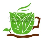Link toLeaves composition of coffee vector