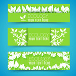 Link toLeaves of paper-cut banner vector