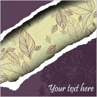 Link toLeaves of torn paper vector background