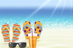 Link toLeisure beach vector illustration