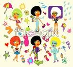 Link toLeisure women vector