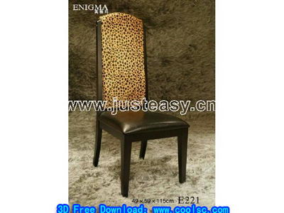 Link toLeopard wood chair 3d model of cortical