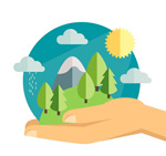 Link toLift natural illustration vector