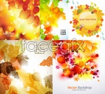 Link toLight autumn leaves vector