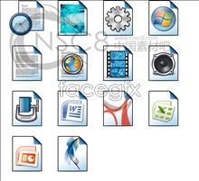 Link toLight blue files desktop icons