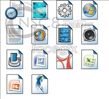 Link toLight blue files desktop icons