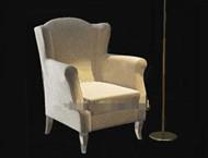 Link toLight color comfortable single fabric sofa 3d model