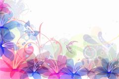 Link toLight color flower background vector