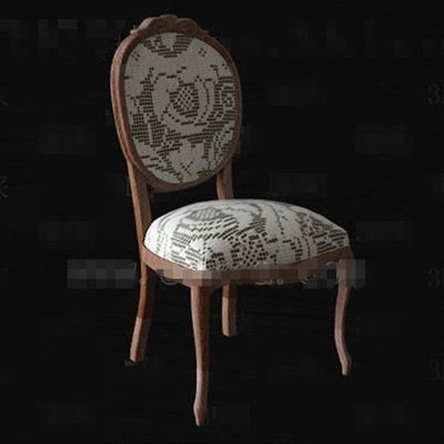 Link toLight color wooden fabric chair 3d model