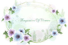 Light colored floral background vector