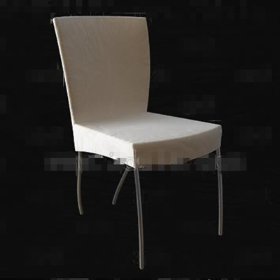 Link toLight colored metal legs chair 3d model